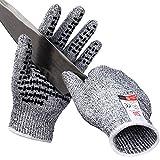 Golovejoy作業手袋料理用切れない手袋 女性と子供の安全のため ワーク 作業用軍手強いスリップ機能の防刃グローブ(S) [並行輸入品]