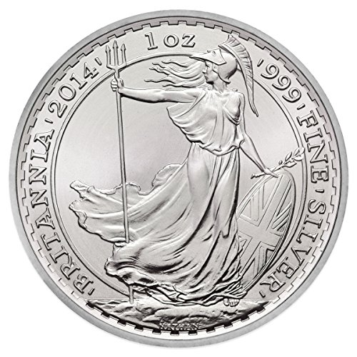 2014 Uk British Britannia Silver Coin 1 Ounce Silver Dollar Mint Uncirculated