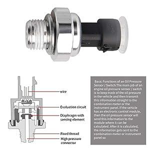 pt1825 ps340 Engine Oil Pressure Sensor Switch Sender Sending Unit 12677836 D1846A 12616646 for Chevy Chevrolet Silverado Suburban Tahoe GMC Yukon Impala Pontiac G8 12573107,12562230,s4202 PS308
