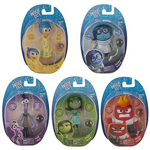 Disney Inside Out Small Figure Complete Set of 5 (Joy, Sadness, Disgust, Anger & Fear)