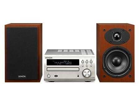 Denon D-M40DABSPCWEKGE système compact (CD, tuner FM, DAB +, 2x 30 Watt, USB) argent / cerise