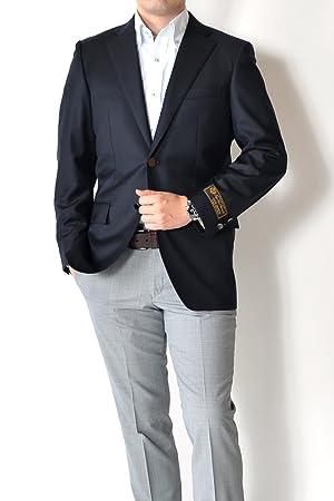 Loro Piana オールシーズン【イタリア生地 Loro Piana-ロロピアーナ SUPER130's 】 ネイビー 2ツボタンテーラードジャケット(紺ブレ)