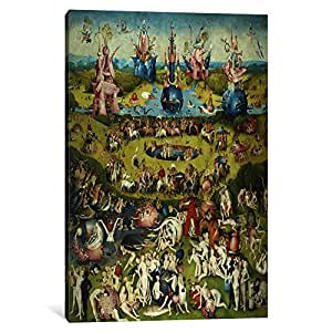 Icanvasart 1 Piece Full Central Panel From The Garden Of Earthly Delights Canvas Print By