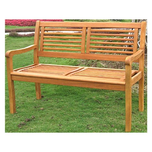 International Caravan Royal Tahiti Bar Harbor 2-Seater Patio Bench