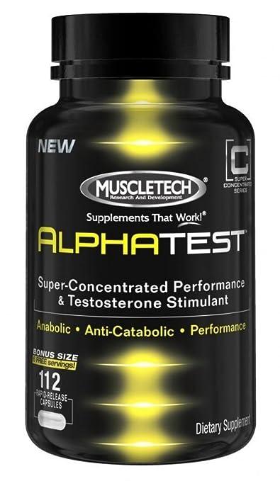 Muscletech Alphatest - 112 Kapseln, 1er Pack (1 x 72 g)