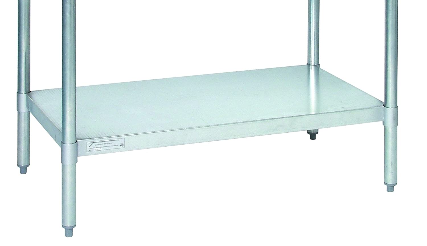 Tarrison US2448S Stainless Steel Undershelf for Work Table, 48 Length x 24 Width ey products e my creative wood table clock khaki 1 x aa