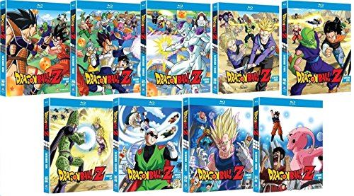 Dragon Ball Z Complete Series Seasons 1-9 Bluray Collection 37-Disc Blu Ray Set
