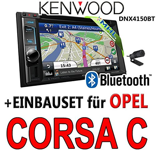 Opel corsa c kenwood-argent-dNX4150BT 2DIN navigationsradio uSB mHL avec