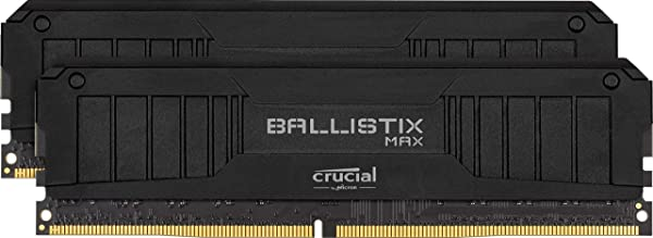 Crucial Ballistix MAX 4400 MHz DDR4 DRAM Desktop Gaming Memory Kit 16GB (8GBx2) CL19 BLM2K8G44C19U4B (Black) (Color: BLACK, Tamaño: MAX: 16GB (8GBx2))