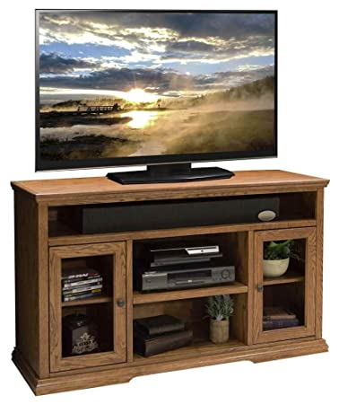 53.75 in. Tall TV Cabinet in Golden Oak Finish
