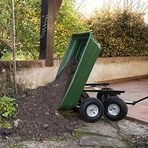 ProBache - Chariot Remorque de jardin 75l 250kg