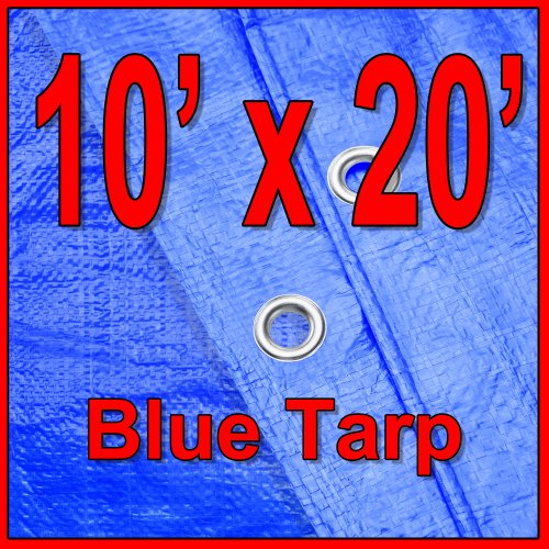 Kodiak Tarps Blue 10' x 20' Tarp Cover For Bikes Motorcycles Lawn Equipment