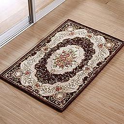 XH@G Carpet floor mats sofa bathroom carpet doormat mat kitchen absorbent pad , coffee , 60*90cm
