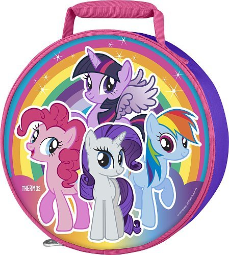 Thermos My Little Pony Girl'S Circle Novelty Lunch Kit - Purple With Pink Trim front-1019682