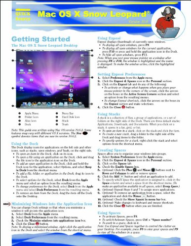 Mac OS X Snow Leopard Quick Source Guide