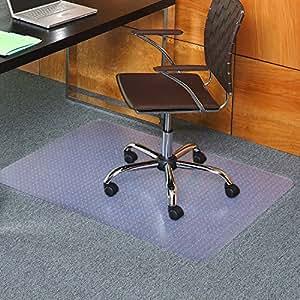 Staples Flat Pile Carpet Chair Mat Rectangular Office Products