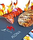 The BEST BBQ GRILL MAT - Set of 2 Mats Make Grilling Easy - Leaves Perfect Grill Marks!! - 60% Heavier Duty Than As Seen On TV, Yoshi And Others - Place Mats Directly On Grill Grates Or In Oven For Baking - A Miracle For Grilling BBQ Ribs, Chicken, Steak, Burgers, Fish, Vegetables, Seafood - You Can Even GRILL PIZZA, Pancakes, Etc. - Does Not Retain Odors or Transfer Tastes - Nothing Falls Through, No Flame Ups - No Hassle Warranty - Non-Stick - Reusable Again & Again - Free Of Silicone, PFOA And Harmful Chemicals - EZ Clean, Dishwasher Safe