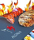 "The BEST BBQ GRILL MAT - Set of 2 Mats Make Grilling Easy - Leaves Perfect Grill Marks!! - 60% Heavier Duty Than As Seen On TV, Yoshi And Others - Place Mats Directly On Grill Grates Or In Oven For Baking - A Miracle For Grilling BBQ Ribs, Chicken, Steak, Burgers, Fish, Vegetables, Seafood - You Can Even GRILL PIZZA, Pancakes, Etc. - Does Not Retain Odors or Transfer Tastes - Nothing Falls Through, No Flame Ups - ""No Hassle"" Warranty - Non-Stick - Reusable Again & Again - Free Of Silicone, PFOA And Harmful Chemicals - EZ Clean, Dishwasher Safe"