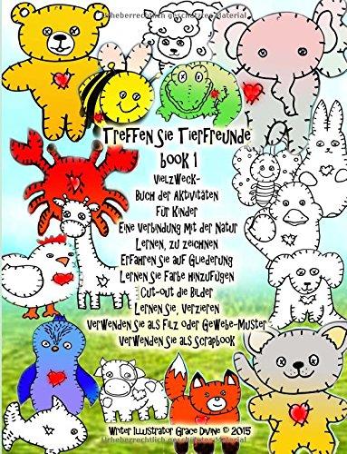 treffen-sie-tierfreunde-book-1-vielzweck-buch-der-aktivitaten-fur-kinder-eine-verbindung-mit-der-nat