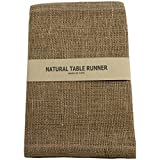 Kel-Toy Burlap Jute Table Runner Fold and Sew Edge, 14 by 72-Inch, Natural