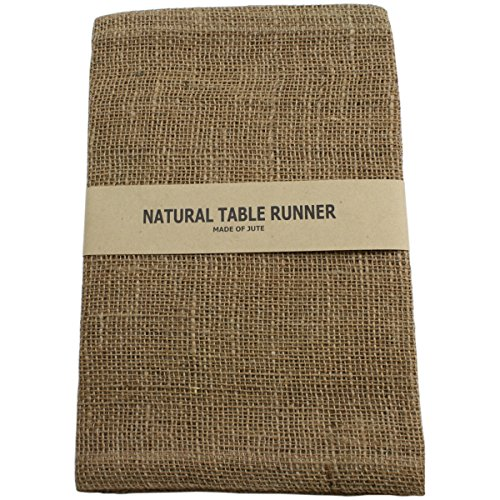 Kel-Toy Burlap Jute Table Runner/Fold and Sew Edge, 14 by 72-Inch, Natural (Burlap Table Cover compare prices)