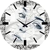 MeSleep Face Wall Clock With Glass Top