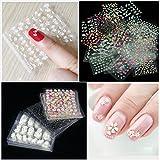 Mode Galerie 50 Feuilles d'Ongles Sticker Couleurs Mélangées 3D Decal Nail Art Manucure