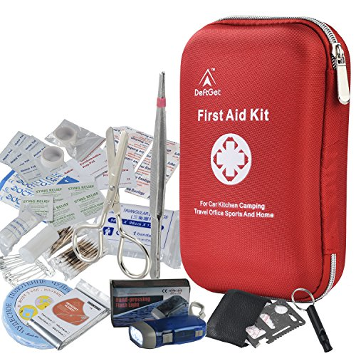 First-Aid-Kit-Survival-Box-Red-Cross-Medical-kits-14-Items-Waterproof-Portable-Essential-Injuries-Medical-Emergency-equipment-For-Car-Kitchen-Camping-Hiking-Travel-Office-Sports-And-Home