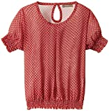 Scullers Kids Girls' Shirt (MU0254_Red_5 - 6 years)