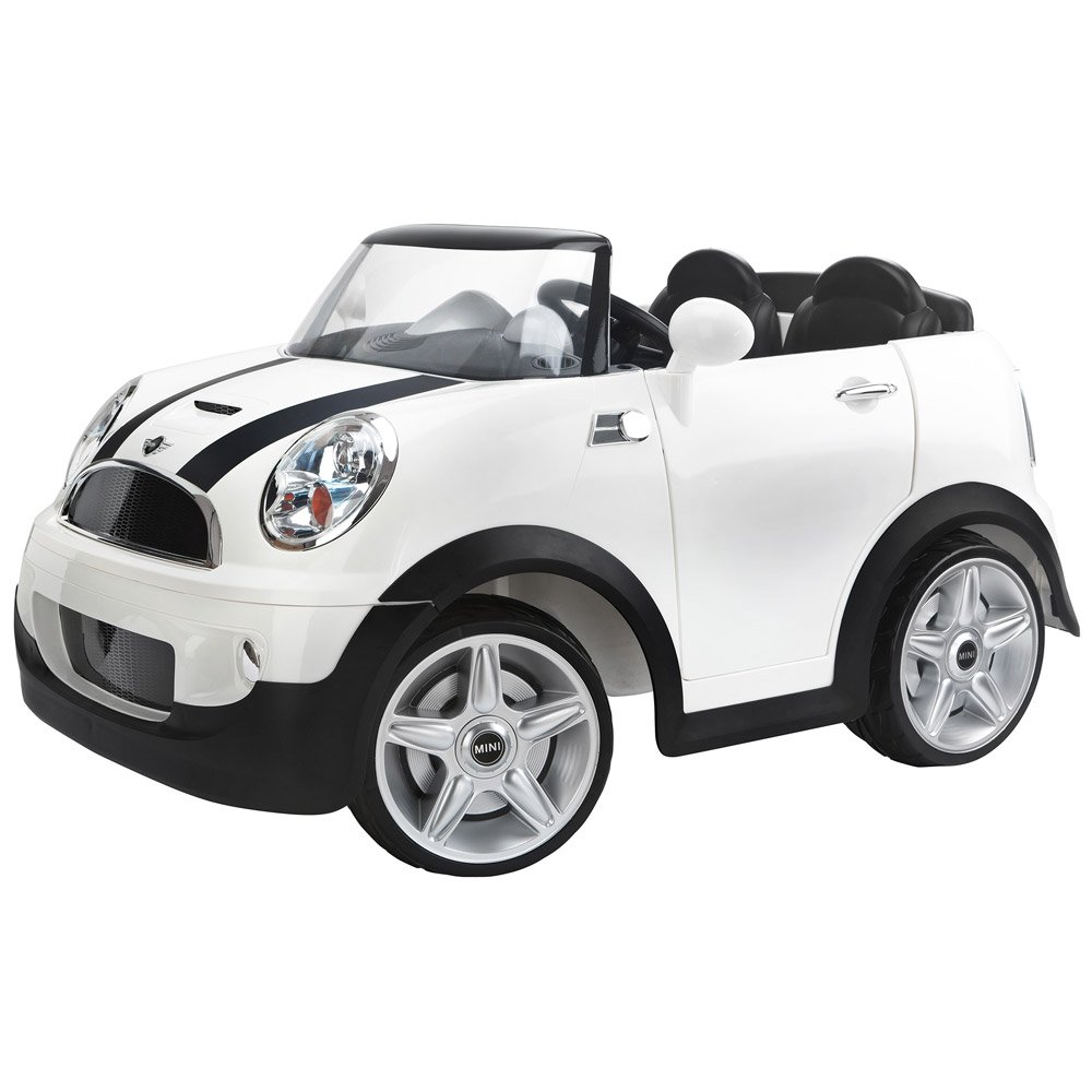 kidtrax mini cooper s battery powered electric ride on car white ebay. Black Bedroom Furniture Sets. Home Design Ideas