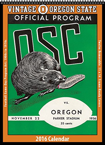 Oregon State Beavers 2016 Vintage Football Calendar PDF