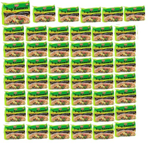Nissin TOP Ramen Noodle Soup Chili Flavor with Og Trans FAT for Best in Ramen Instant Noddle Soup- 48 Pack of 3 Oz Bags (Ramen Noodle Chili compare prices)