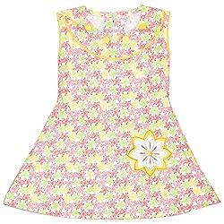 Rush Me Baby Girls' Dress (S.R.1018_3 Years, 3 Years, Red)