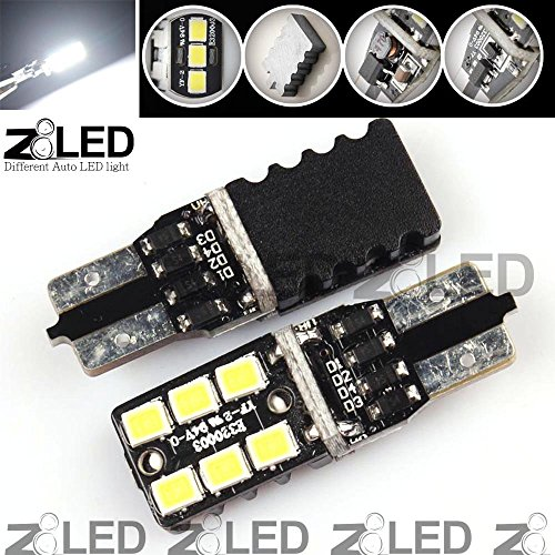 Z8 2Pcs T10 W5W 501 194 168 Build In Canbus Error Free Extreme High Power 6P 2835 Chip Smd Led Xenon Backup Reverse Light Bulbs 6000K 33Mm*11Mm Z8Led #T10Cn6W