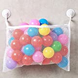 Bath Toy Organizer - Storage basket for bathroom toys - Shower Caddy - Strong vacuum hooks - No more Mushroom cups that falls off! - For baby, toddler, boys, girls - A perfect storage solution - Life Time Warranty.