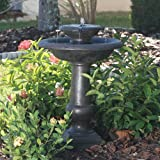 Smart Solar 24260RM1 Oiled Bronze Finish Chatsworth 2-Tier Solar-On-Demand Fountain
