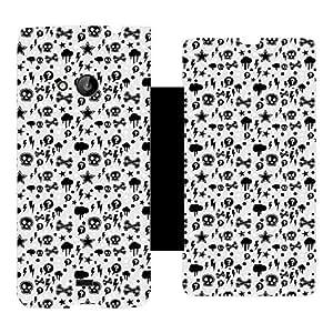 Skintice Designer Flip Cover with hi-res printed Vinyl sticker wrap-around for Microsoft Lumia 535