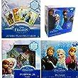 Disney Frozen 4 Games Value Set - Playing Cards + Popper Jr Pop Up Board Game + Lenticular Puzzle + Regular Paper Puzzle