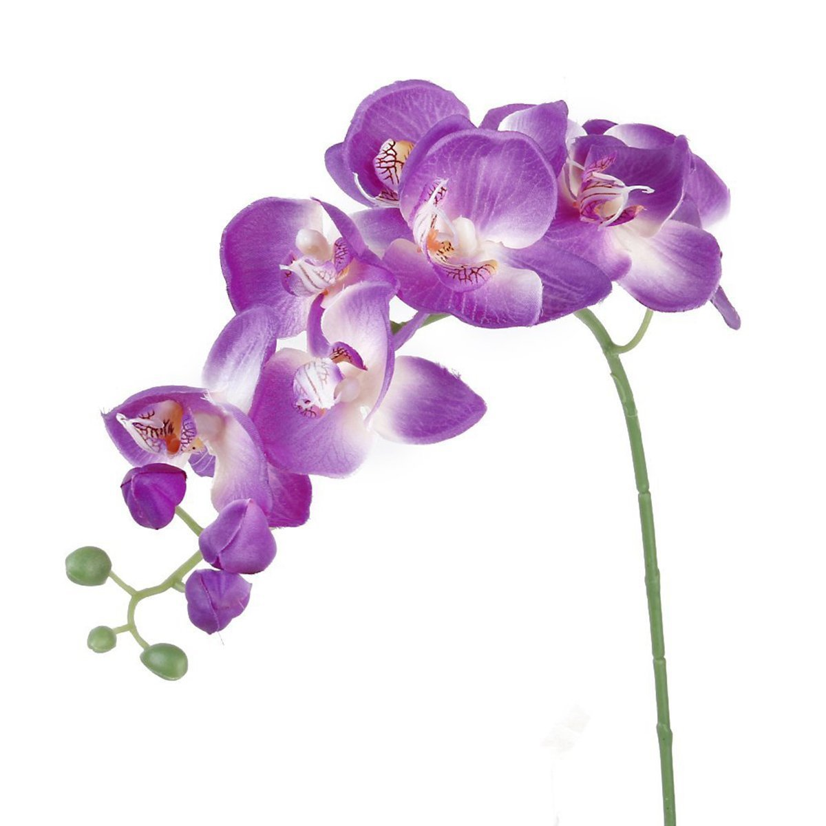 UEETEK Simulation Butterfly Orchid Artificial Flower Plant Home Decoration (Purple)