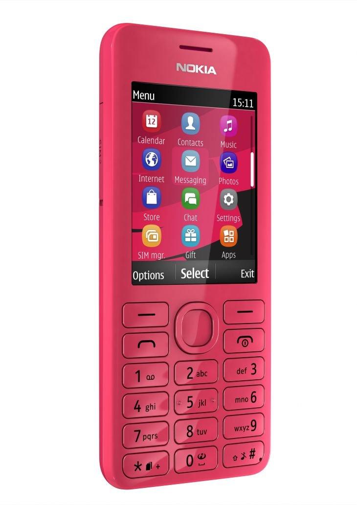 T�l�phone GSM NOKIA 206 ROSE