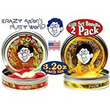"Crazy Aarons Thinking Putty Multi Holiday (Christmas & Hanukkah) ""Mistletoe Madness"" Hypercolor & ""Gelt"" With..."