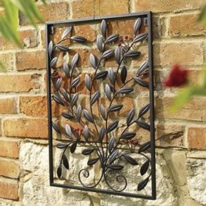 BERRY - Decorative Metal Garden Wall Art / Trellis - Black from WATSONS