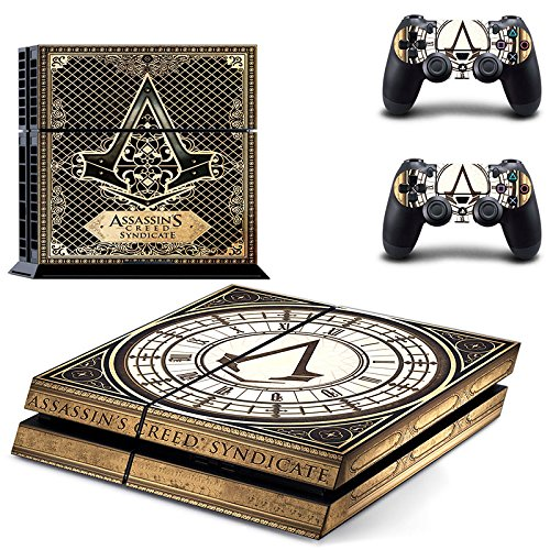 Hambur® Sony PlayStation 4 Skin Decal Sticker Set - Exclusive Assassin's Creed: Syndicate (1 Console Sticker + 2 Controller Stickers) (Nike Steering Wheel compare prices)