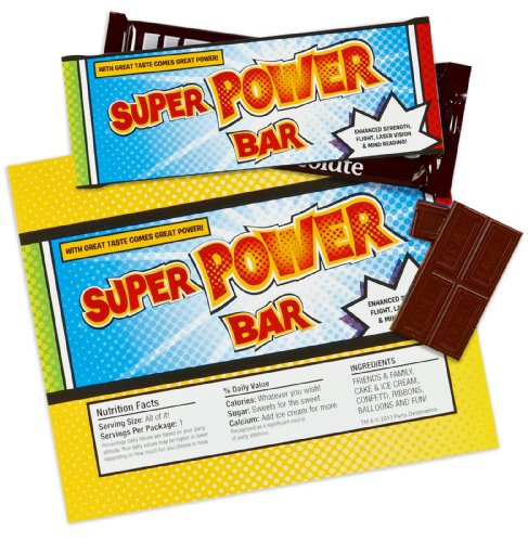 Superhero Comics Large Candy Bar Wrappers (8) - 1