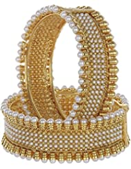 Shining Diva Gold Plated Traditional Jewellery Bangles For Women And Girls