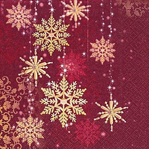 cocktail-napkin-25-x-25-cm-snowflake-gold-christmas-winter-snow-animals-forest-snowman-merry-christm