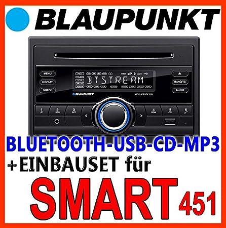 Smart forTwo - 2007-2010 bLAUPUNKT-new jersey 220 bT-cD/mP3/uSB avec kit de montage d'autoradio bluetooth