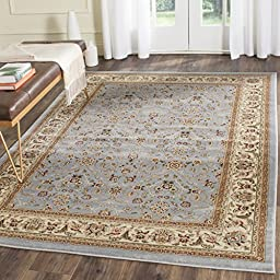 Safavieh Lyndhurst Collection LNH312B Light Blue and Ivory Area Rug, 8 feet by 11 feet (8\' x 11\')