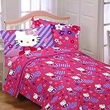 Hello Kitty Raining Flowers Twin Sheet Set Bedding