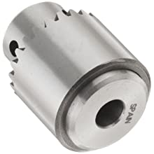 "Llambrich CY Plain Bearing Medium Duty Taper Mount K0 Keyed Drill Chuck, 0JT Mount, 55/64"" Chuck Diameter, 1/64""-5/32"" Capacity"